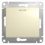 Schneider GLOSSA выключатель 1кл. с подсв. крем механизм GSL000213