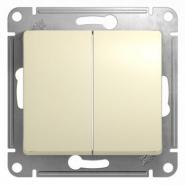 Schneider GLOSSA выключатель 2кл. проходной крем механизм GSL000265