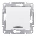 Schneider SEDNA выключатель 1кл. с подсв. белый SDN1400121