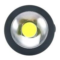 """Светильник LED """"Таблетка"""", черный, работает от батареек ААА 3шт."""