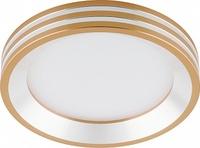 Светодиодный светильник Feron AL612 встраиваемый 7W 4000K золотистый 28913