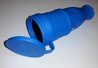 T-Plast штепсель каучуковый с заземлением IP44 синий 31.01.304.0900