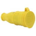 T-Plast штепсель каучуковый с заземлением IP44 желтый 31.01.304.0700