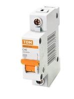 TDM Автоматич. выкл. 1P 40A 4,5кА х-ка C ВА47-63 SQ0218-0007