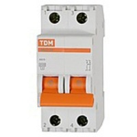TDM Автоматич. выкл. 2P 50A 4,5кА х-ка C ВА47-63 SQ0218-0015