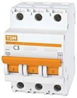 TDM Автоматич. выкл. 3P 10A 4,5кА х-ка C ВА47-63 SQ0218-0018