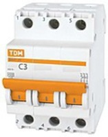 TDM Автоматич. выкл. 3P 20A 4,5кА х-ка C ВА47-63 SQ0218-0020