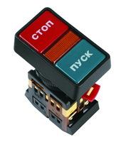 """TDM Кнопка РPВВ-30N """"I-O"""" d30mm неон/230В 1з+1р SQ0704-0026"""