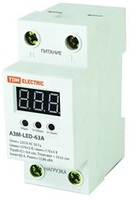 TDM Реле напряжения 1фазное серии АЗМ с LED дисплеем 63A-220V SQ1504-0020