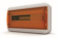 Tekfor бокс навесной 18 мод. IP65, прозрачная оранжевая дверца BNO 65-18-1