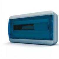 Tekfor бокс навесной 18 мод. IP65, прозрачная синяя дверца BNS 65-18-1