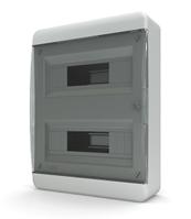 Tekfor бокс навесной 24 мод. IP41, прозрачная черная дверца BNK 40-24-1