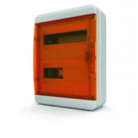 Tekfor бокс навесной 24 мод. IP65, прозрачная оранжевая дверца BNO 65-24-1