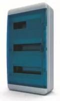Tekfor бокс навесной 36 мод. IP65, прозрачная синяя дверца BNS 65-36-1