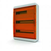 Tekfor бокс навесной 54 мод. IP65, прозрачная оранжевая дверца BNO 65-54-1
