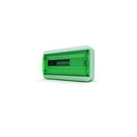 Tekfor бокс навесной мод. IP65, прозрачная зеленая дверца BNZ 65-18-1
