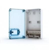 Tekfor бокс под счетчик накладной IP66 прозрачная синяя дверца KNS 66-350