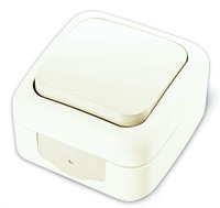 Viko Palmiye кнопка звонка IP54 открытая установка белая 90555406