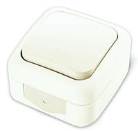 Viko Palmiye выключатель 1 кл. проходной IP54 открытая установка белый 90555404