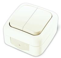 Viko Palmiye выключатель 2 кл. IP54 открытая установка белый 90555402