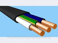 Кабель ВВГ-Пнг 3*2,5 ТУ плоский