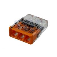 WAGO клемма без пасты на 3 провода плоская 2273-203 (100шт)