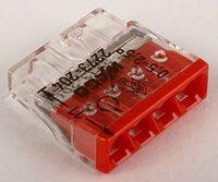 WAGO клемма без пасты на 4 провода плоская 2273-204 (100шт)