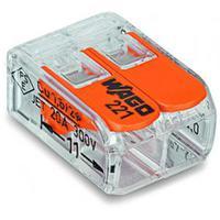 WAGO клемма универсальная компактная на 2 провода 221-412 (100шт)